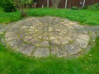Stone patio circle