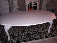 Gorgeous white wood coffee table SOLD
