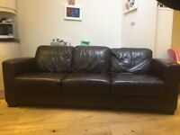 Large Brown leather sofa