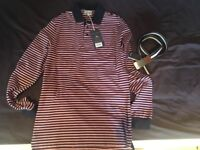 Jack Wills Top and Fred Perry Belt – BRAND NEW with Tags