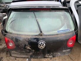 2004 - 2008 VW GOLF MK5 3 DOOR TAILGATE BOOT LID BLACK LC9Z
