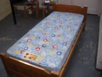 "CHILD'S 2'6"" (76CM) SINGLE WOODEN BED"