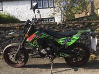 Orion Apolllo rx50 Supermoto 50cc Moped Motorbike Very Low Mileage 791 less than 2 years old
