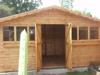 Summer House 16ft x 8ft plus 1ft over hang.