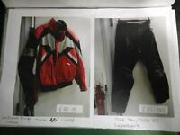 Bike Leather lockwell Ninja Jacket and Black leather trousers £45 set