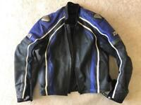 "FRANK THOMAS LEATHER MOTORCYCLE JACEKT XL/47"""