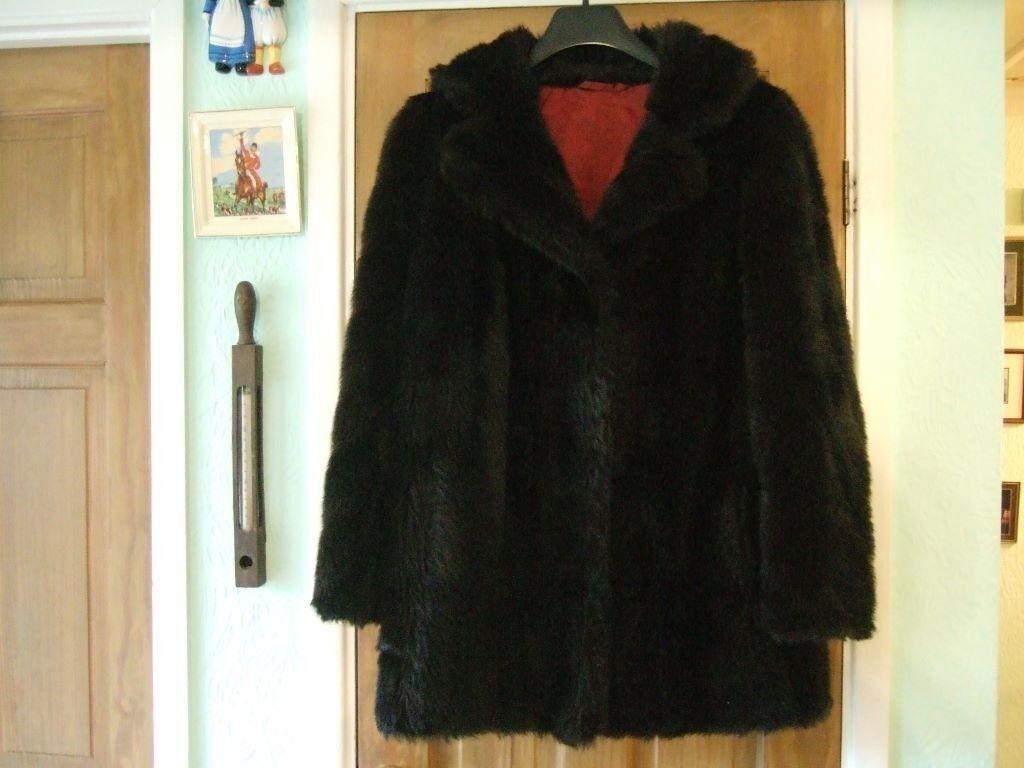 f4037d05b06 Fur coat Faux Martin Blau