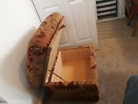 Foot Stool/Upholstered Storage Box