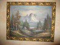 oil painting Alpine scene