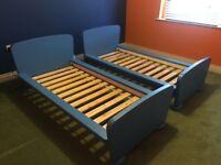 FREE - Two IKEA Mammut children bed -blue