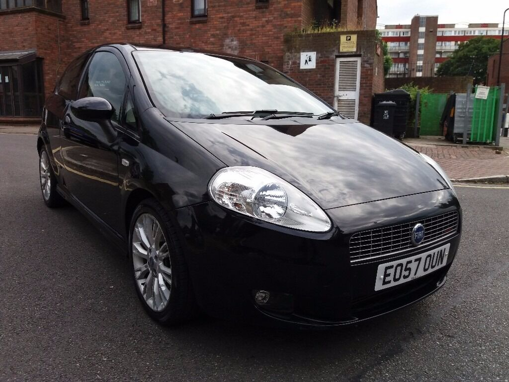 fiat grande punto 2008 diesel 6 speed full black leather in wood green london gumtree. Black Bedroom Furniture Sets. Home Design Ideas