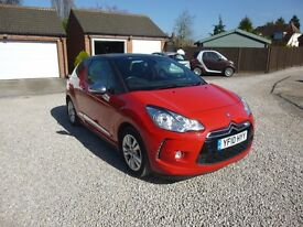 2010 CITROEN DS3 HDI STYLE DIESEL RED 12 MONTH M.O.T. FREE ROAD TAX