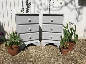 Beautiful Solid Pine Bedside Tables Set.