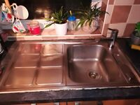 Used kitchen sink and tap