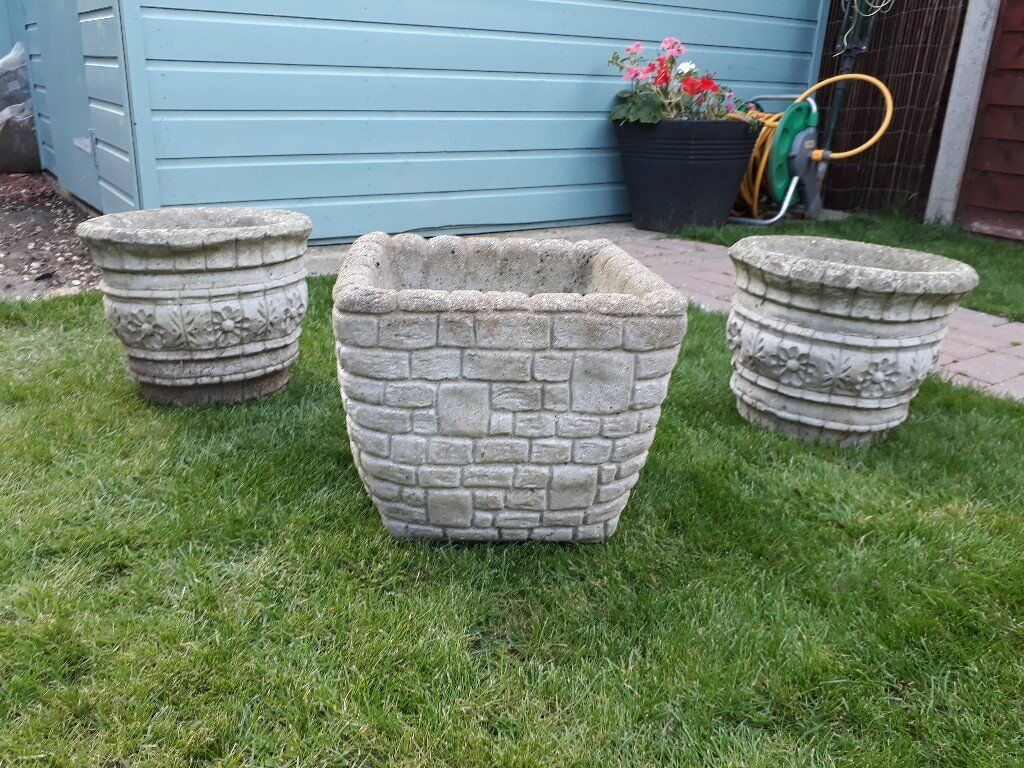 Decorative Garden Pots (Concrete) | in Marden, Kent | Gumtree