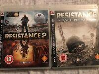 2x PS3 Games Resistance & Resistance 2