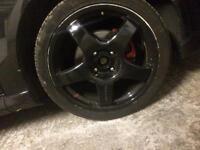 17inch black alloys good condition