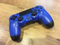 PS4 OFFICIAL BLUE CONTROLLER - EXCELLENT CONDITION