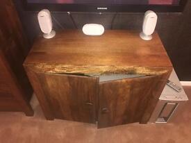 Mango wood tv cabinet.