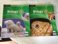 AS and A2 Biology Text Books.