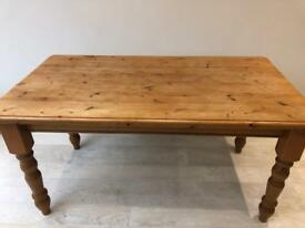 Solid Pine 6-Seat Table