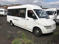 Mercedes sprinter 412d mini bus couch 17 seater