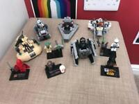 Compatible Lego Star Wars sets and mini figures with instructions
