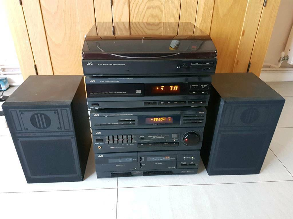 jvc hi fi system with cd and turntable in arundel west. Black Bedroom Furniture Sets. Home Design Ideas