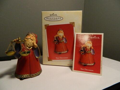 2003 Hallmark Keepsake Ornament The Decision Santa Claus Judge Christmas