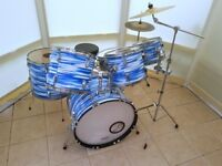 Custom Wrapped 6 Piece Drum Kit with hardware and Cymbals