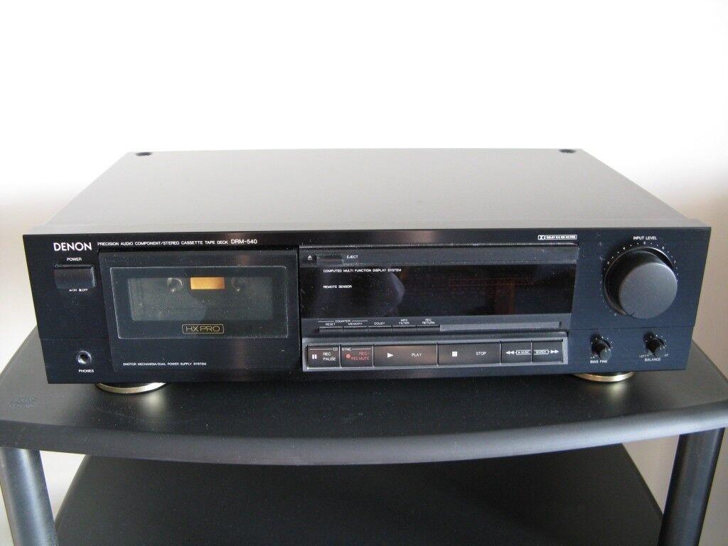 Denon cassette deck Model DRM-540 Hi-Fi Audio tape player