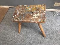 Painters stool - artist vintage stool, unique, individual