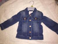 Brand new 12-18 month demin jacket