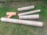 Assorted Clay Sewer Pipes