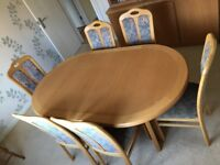 Dining Table and chairs + unit