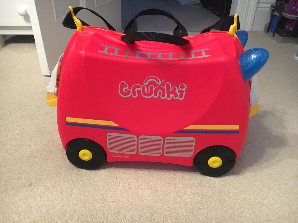 Trunki Ride-on Suitcase - Frank the Fire Engine