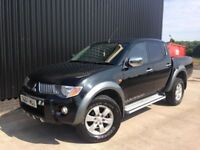 2007 Mitsubishi L200 2.5 DI-D Warrior Double Cab Pickup Diesel TowBar Full Leather Finance Available