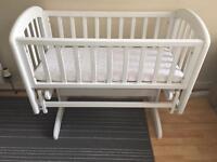 Rocking John Lewis crib Mattress ASAP