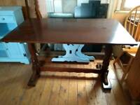 Solid wood rectangular table