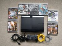 PS3 console and 7 games