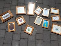 Assortment of wooden picture frames