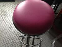 Bar stool kitchen stool pink Faux leather