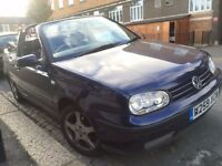 VW VOLKSWAGEN GOLF 1.6 CONVERTIBLE W REG 2000 1 FORMER OWNER 2 KEYS LONG MOT GREAT CAR