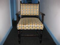 Solid wood framed chairs with soft upholstery