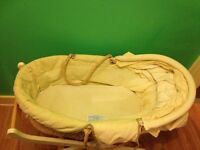 Moses basket with stand and hood - very good quality