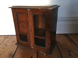 Vintage Antique Gentlemans Smoking Cabinet Pipe Tobacco Storage Bathroom ?