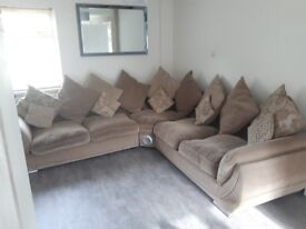Matrix 2x2 Scatter Back Sofa with Speaker and Bluetooth and a 3 Seater Sofa