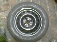wheel rim and tyre vauxhall corsa 2002