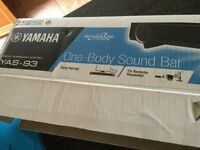 Yamaha YAS - 93. Front surround sound bar system with dual built-in subwoofers - black