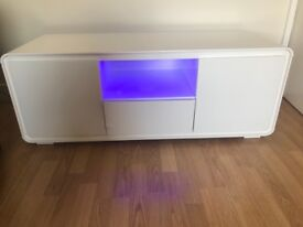 White high gloss tv stand tv cabinet